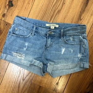 Pants - Distressed Light Wash Shorts